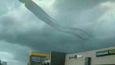 Imagem mostra 'nuvem com formato humano' no céu de Zâmbia